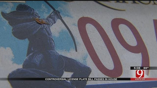 License Plate Bill Passes In Oklahoma House