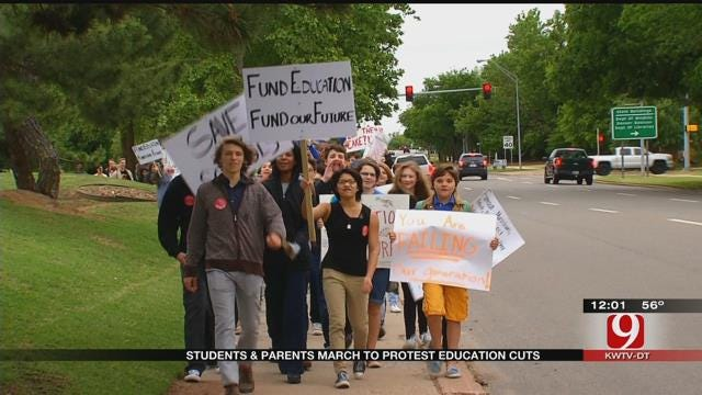 Classen SAS Students, Parents March On State Capitol