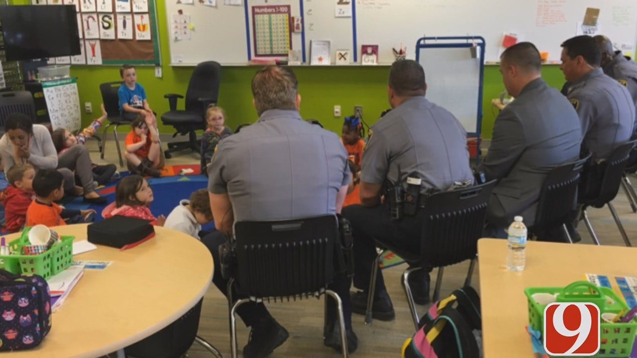 WEB EXTRA: OKC Pre-K Students Honor Police Officers