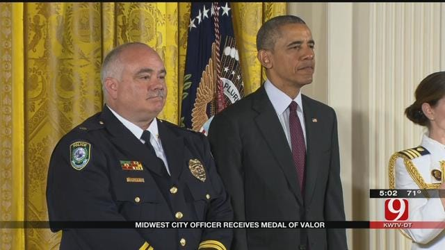 Midwest City Police Officer Receives Medal of Valor