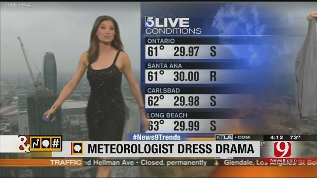 Trends, Topics & Tags: Meteorologist's Dress Sparks Social Media Controversy