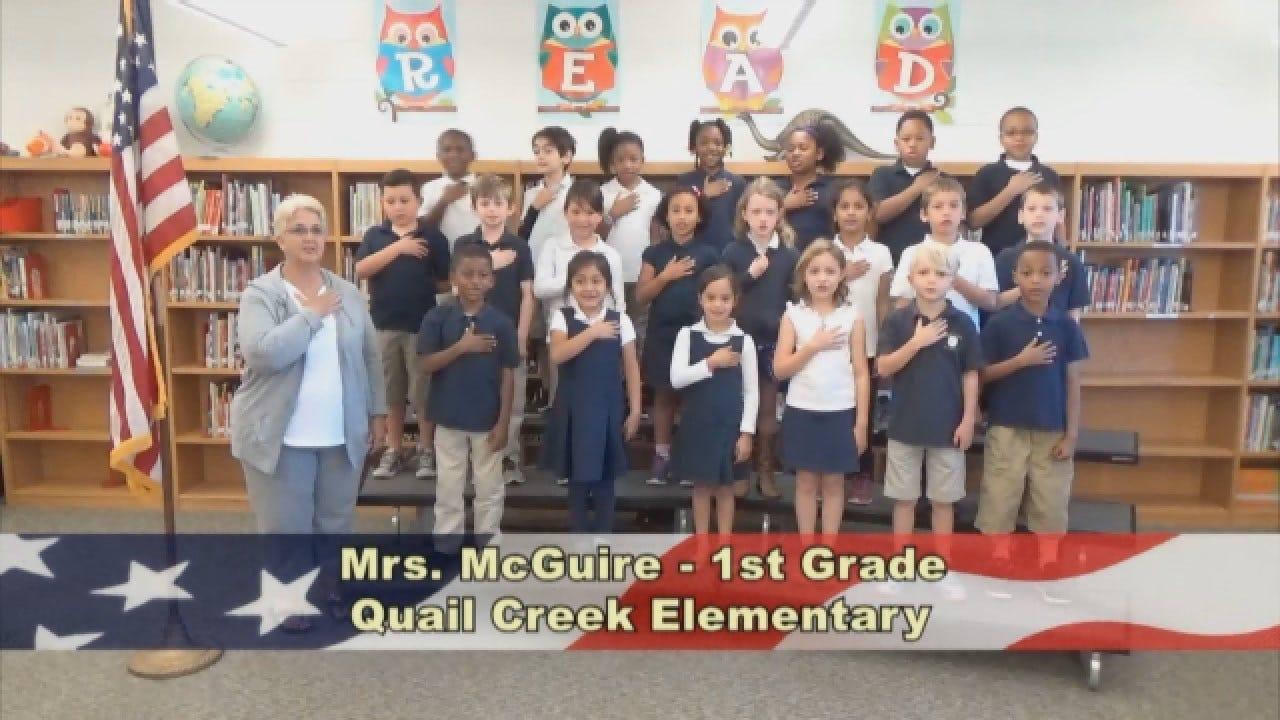 Mrs. McGuire's 1st Grade Class At Quail Creek Elementary