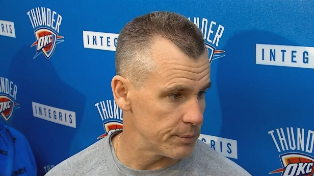 Billy Donovan Talks With Reporters After Sunday's Practice