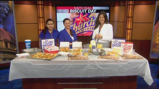 Church's Chicken On National Biscuit Day