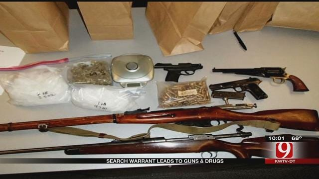 Police Find Drugs, Cash, Guns In NW OKC Home