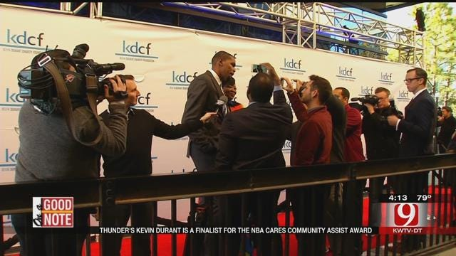 Good Note: Thunder's Kevin Durant Finalist For NBA Cares Community Assist Award