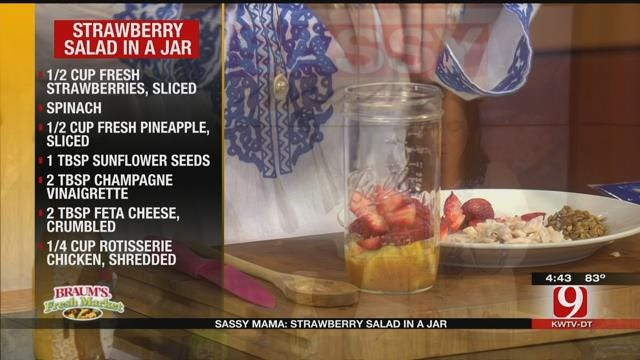 Strawberry Salad in a Jar