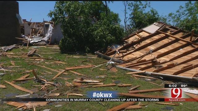 Team Coverage: Neighbors Survey Damage After Tornado Rips Through Murray County