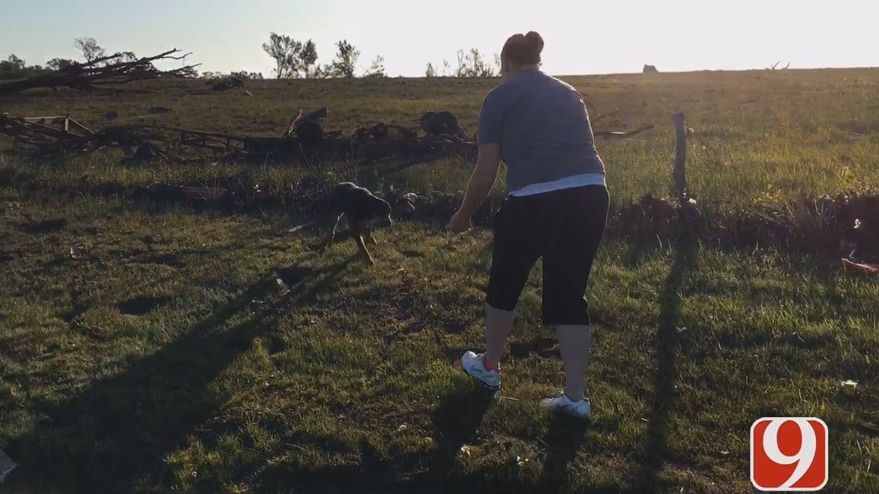 WEB EXTRA: Dog Lost In Garvin County Storm Reunited With Family
