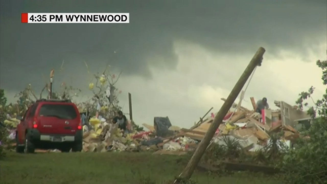 WEB EXTRA: Storm Tracker Tom Pastrano Comes Across Destruction Near Wynnewood