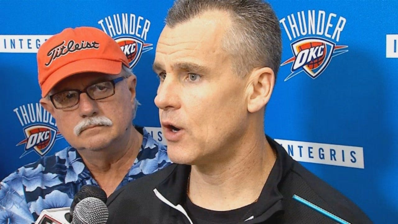 Billy Donovan Talks With Reporters At Saturday's Practice