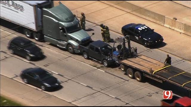 WEB EXTRA: SkyNews 9 Flies Over Injury Crash Involving Semis On EB I-40