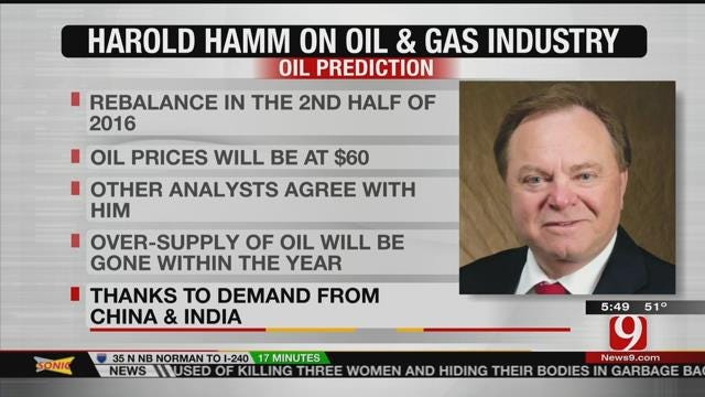 Harold Hamm Continues Positive Predictions On Oil And Gas Industry