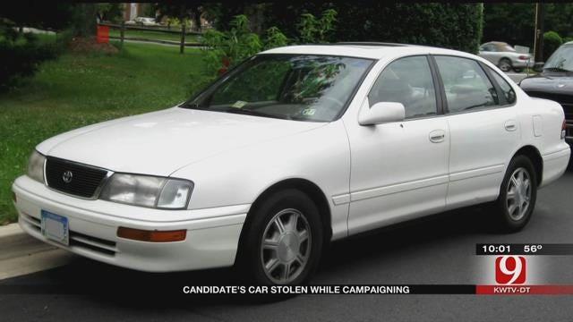 Candidate's Vehicle Stolen While Campaigning