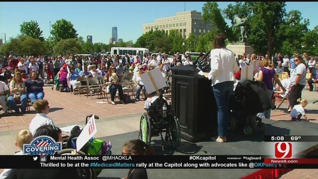 Nursing Home Residents, Health Workers Rally For Medicaid