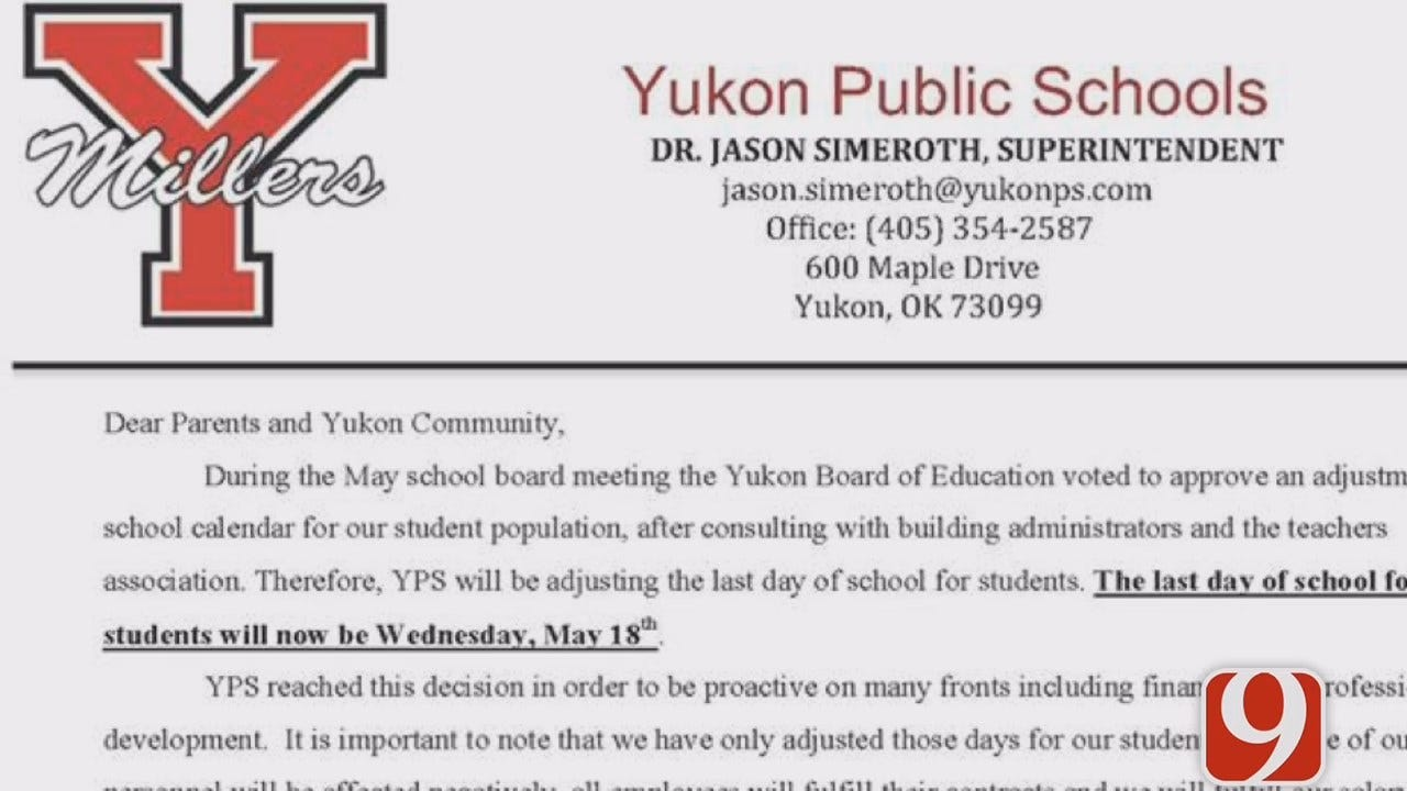 Yukon Public Schools To Close Two Days Early