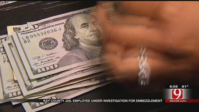 Former Kay County Jail Employee Accused Of Embezzling $363K