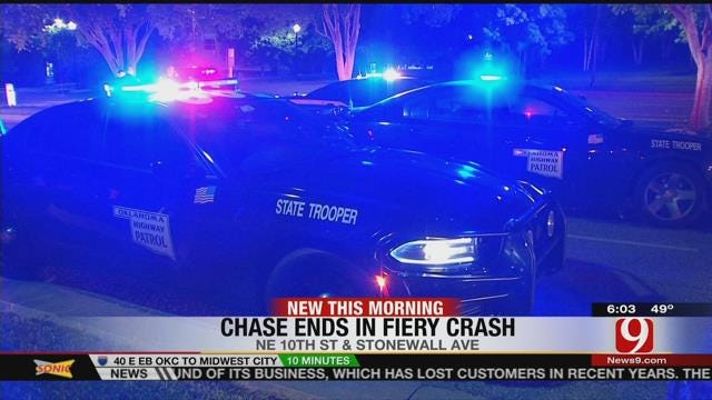 Man Crashes Truck Into Tree After High-Speed Chase Through OKC