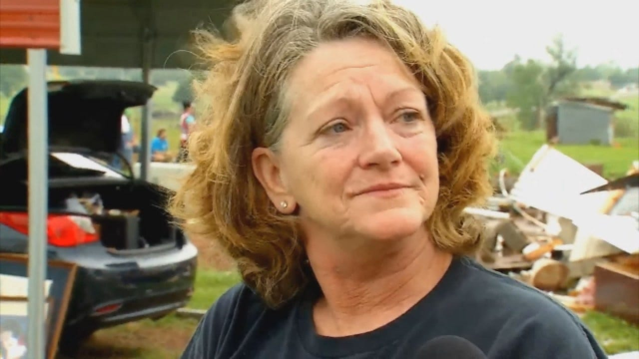 WEB EXTRA: Fletcher Woman Recounts Rescuing Daughter Moments Before Tornado