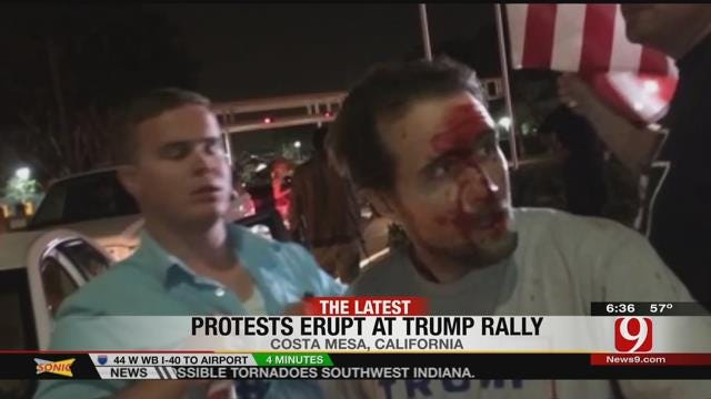About 20 Arrested During Trump Rally In California
