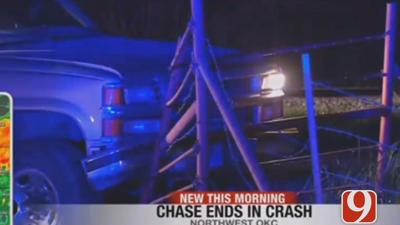 WEB EXTRA: High Speed Chase Ends In Crash In OKC Metro