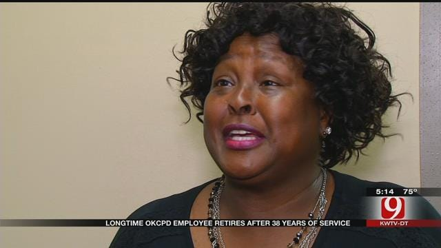 Female OKC Police Officer Retiring After 38 years