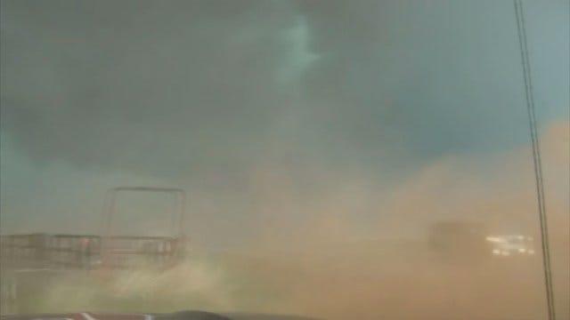 WEB EXTRA: Stormtracker Marty Logan's Close Encounter With Small Tornado