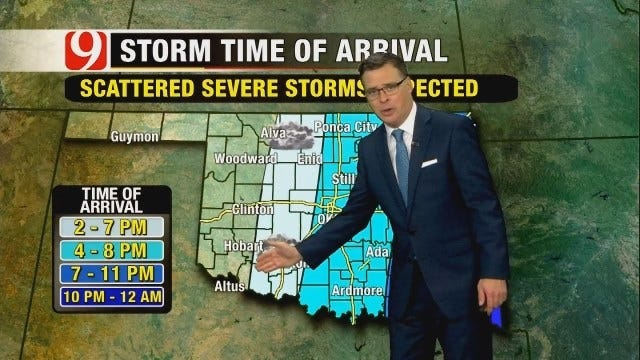 WEB EXTRA: Jed Castles Updates On Threat Of Severe Weather Tuesday