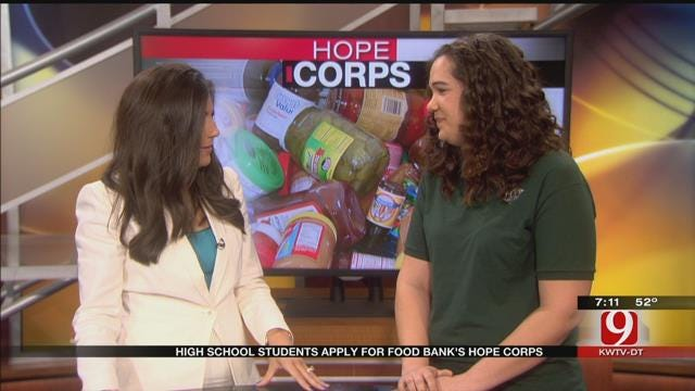 HS Students Apply For Food Bank's Hope Corps