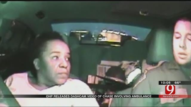 OHP Releases Dash Cam Video Of Chase Involving Stolen Ambulance