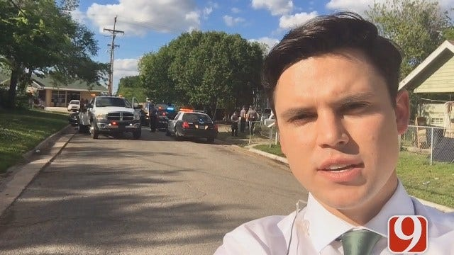 WEB EXTRA: Officers Search The Scene Where Chase Ended