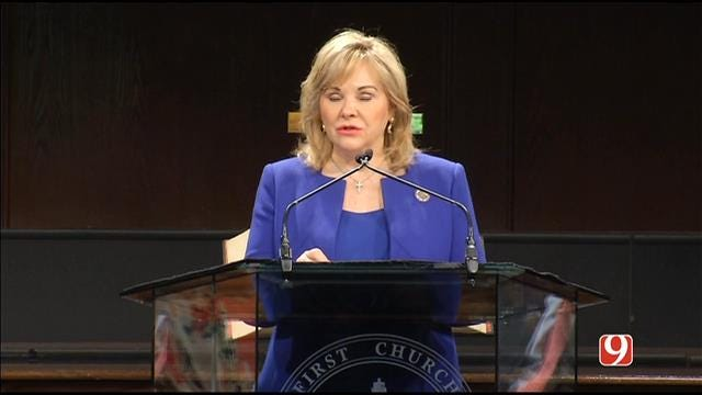 WEB EXTRA: Gov. Mary Fallin Speaks During Remembrance Ceremony