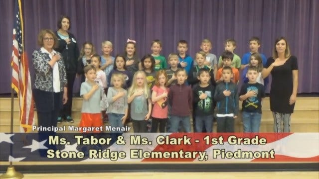Ms. Tabor and Ms. Clark's 1st Grade Class At Stone Ridge Elementary