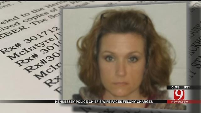 Hennessey Police Chief's Wife Faces Felony Charge