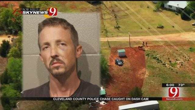 Cleveland Co. Police Chase Suspect Found Hiding In Ironic Location