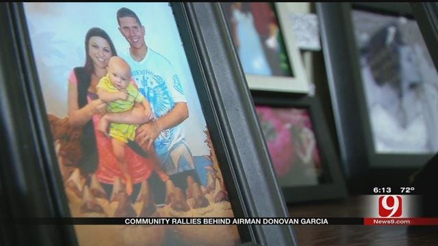 Community Rallies Behind Tinker Airman After Wife's Sudden Death