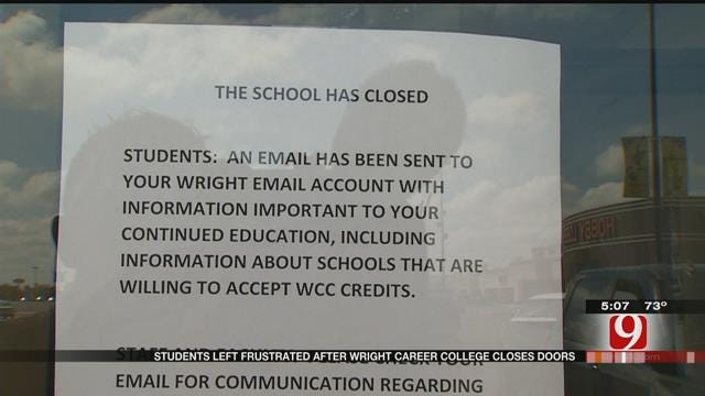 Students Facing Uncertain Future After Wright Career College Closes