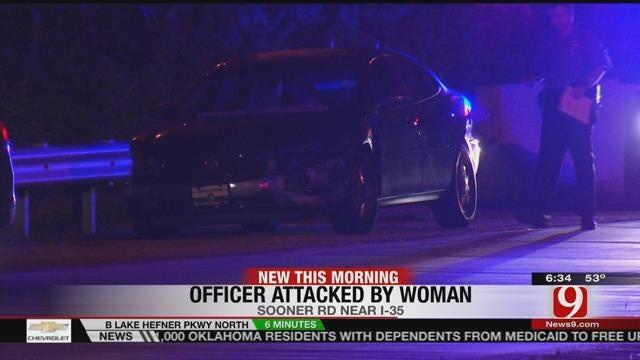 Police: Stranded Driver Assaults, Bites Officer In NE OKC