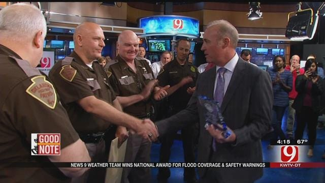 WEB EXTRA: OHP Awards News 9's Weather Team, Storm Trackers