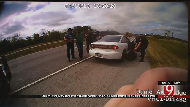 Multi-County Police Chase Over Stolen Video Games Ends In 3 Arrests