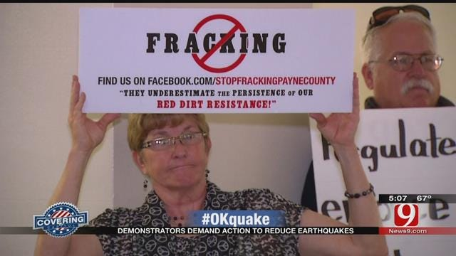 Demonstrators Take To The Capitol, Demand Action To Reduce Earthquakes