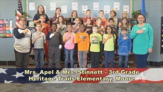 Mrs. Apel and Mrs. Stinnett's3rd GradeClass At Heritage Trails Elementary