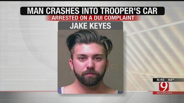 Driver Slams Into OHP Trooper's Vehicle During Traffic Stop In NE OKC