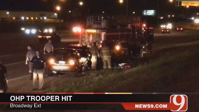 News 9 Photojournalist Arrives On Scene OHP Trooper Accident