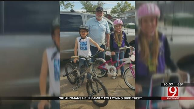 Oklahomans Help Family Following Bike Theft In SE OKC