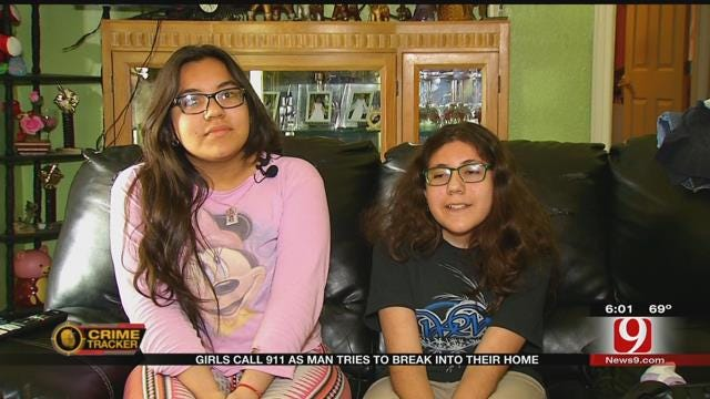 Two Girls Call 911 As Man Tries To Break Into Their Home