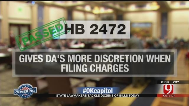 OK State Lawmakers Pass Long List Of Bills