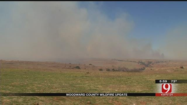 Wildfire Still Smolders Across NW Oklahoma