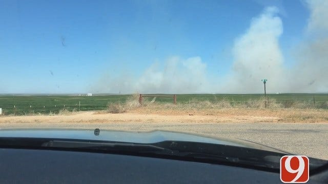 WEB EXTRA: Reporter Grant Hermes Takes First Look At Woodward Co. Wildfire