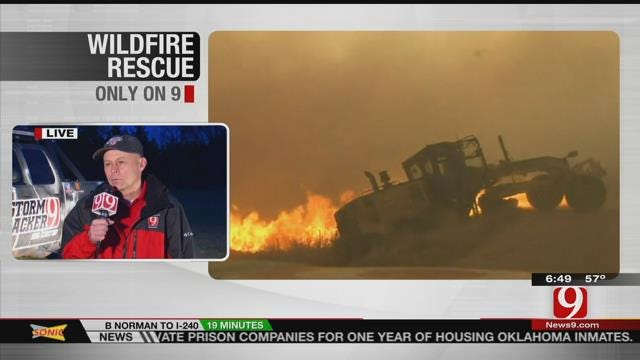 Val Castor Talks About Rescuing Road Grader Operator During Large Wildfire